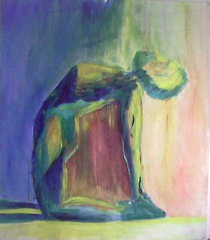 Yoga Painting - Camel Pose by Renee Maloney