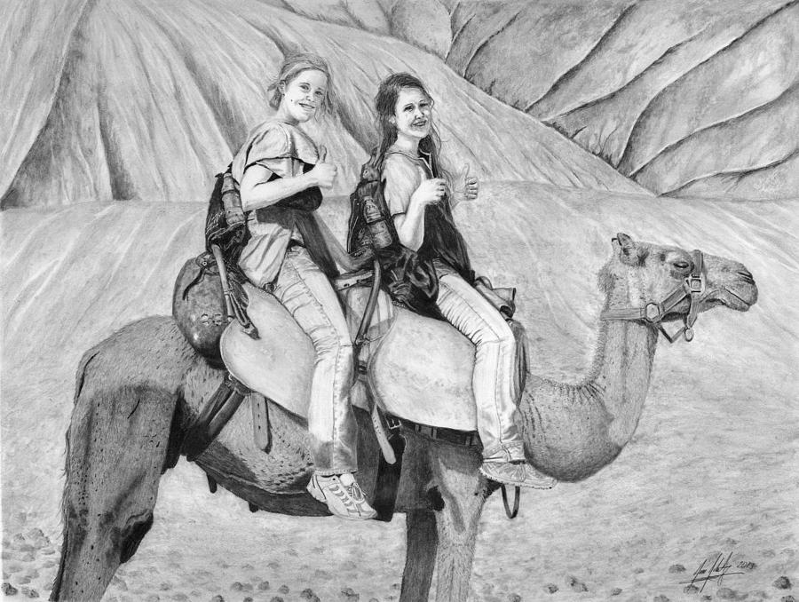 Camel Ride Drawing by James Schultz
