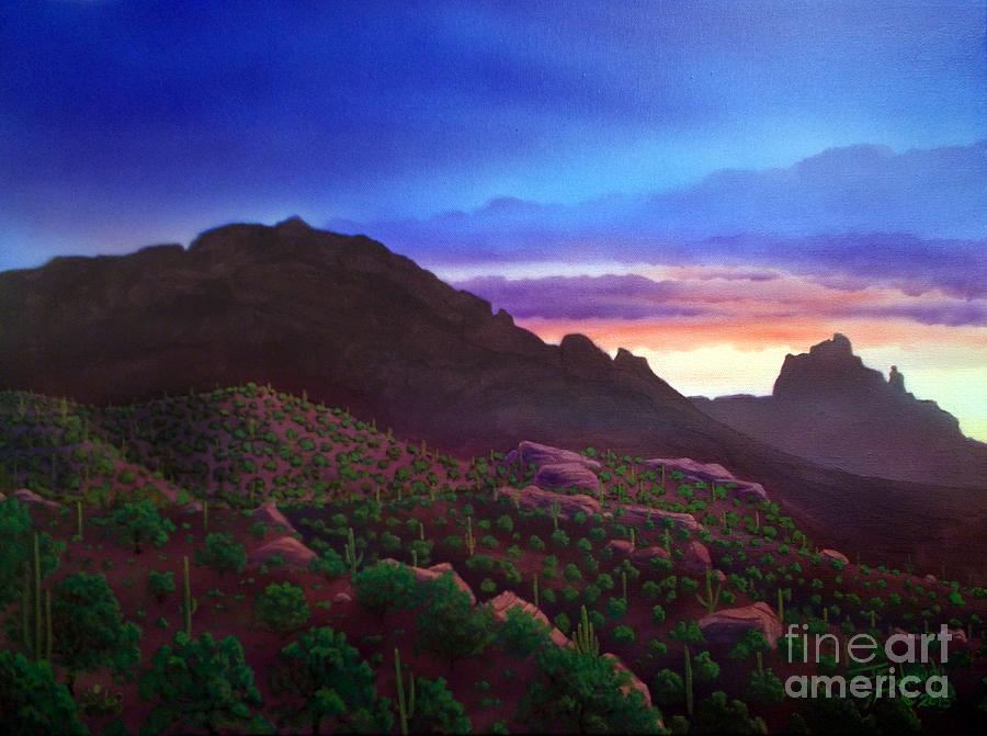 Camelback Mountain Dusk by Jerry Bokowski