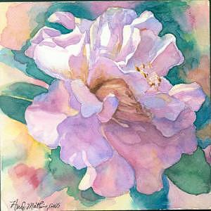 Camelia Painting - Camelia On Clayboard by Andy  Mathis