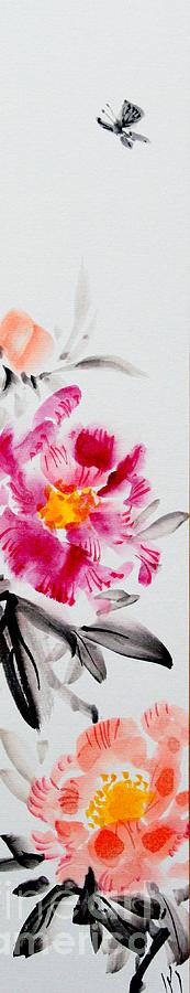 camellia and butterfly by Fumiyo Yoshikawa