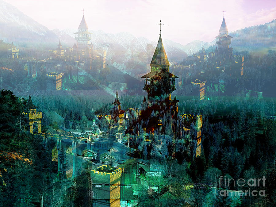 Authurian Mixed Media - Camelot by Tammera Malicki-Wong
