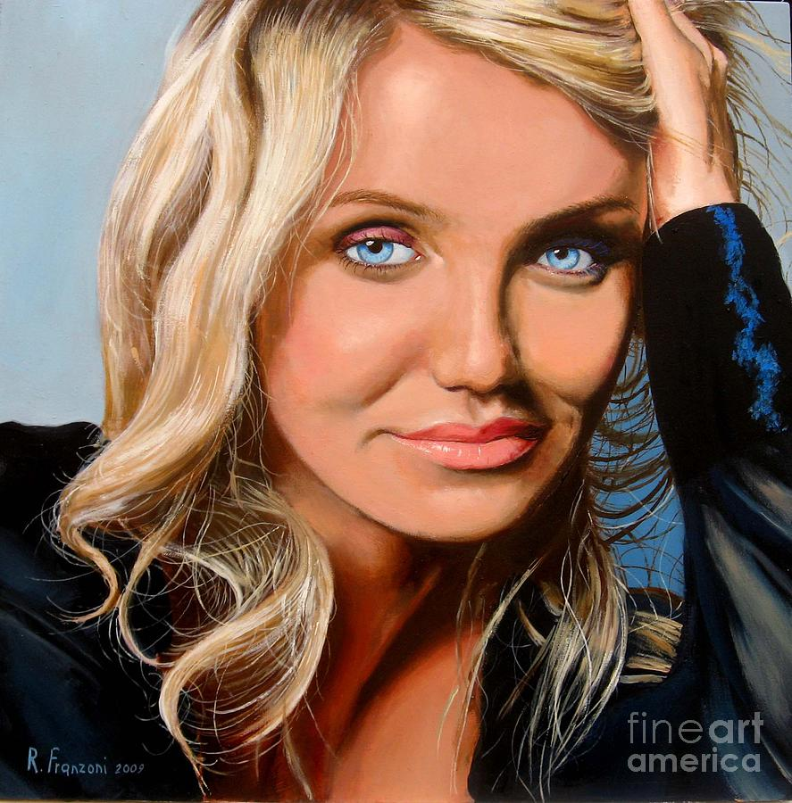 Portrait Painting - Cameron Diaz by Riccardo Franzoni