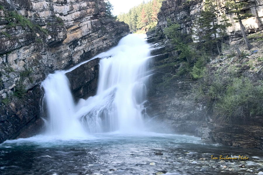 Waterton Park Photograph - Cameron Falls by Tom Buchanan