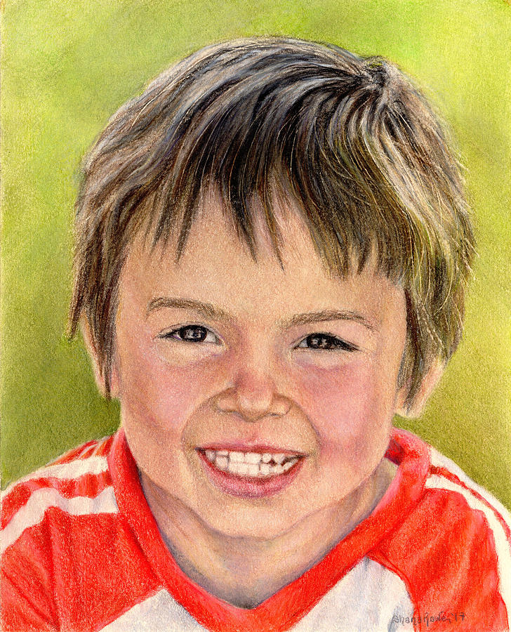 Portrait Drawing - Cameron by Shana Rowe Jackson