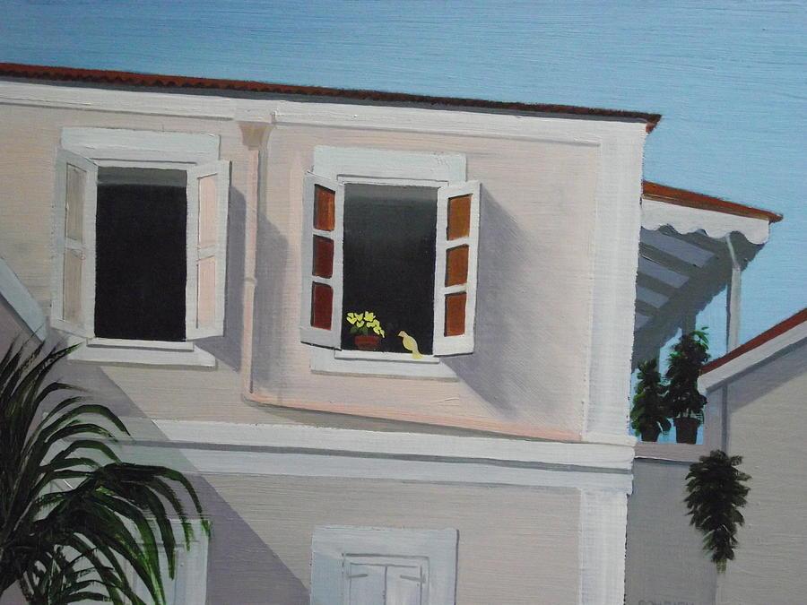 Charlotte Amalie Painting - Camille Pissaro Courtyard by Robert Rohrich