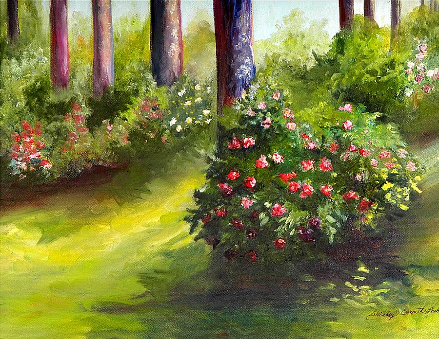 Landscape Painting - Camillia by Shirley Lawing
