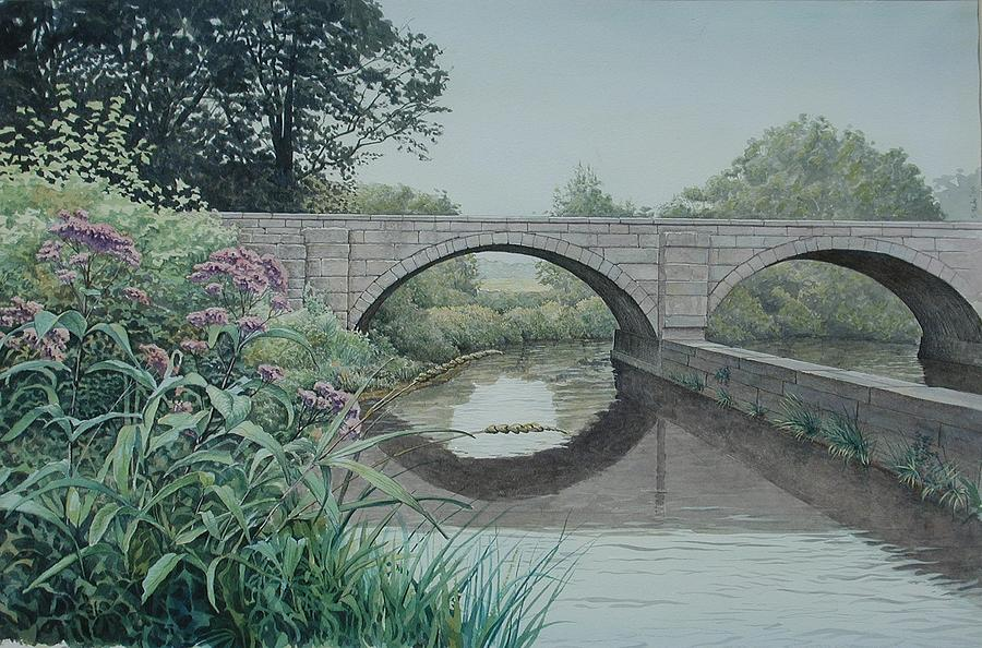 Landscape Painting - Camillus Canal by Stephen Bluto