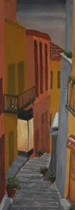 Cityscape Painting - Camino De Espana by Janis Mock-Jones
