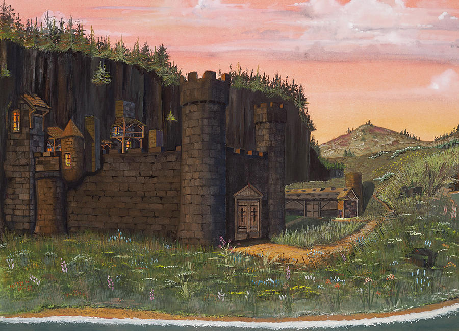 Isle Of Skye Painting - Camlochlin Castle by James Lyman