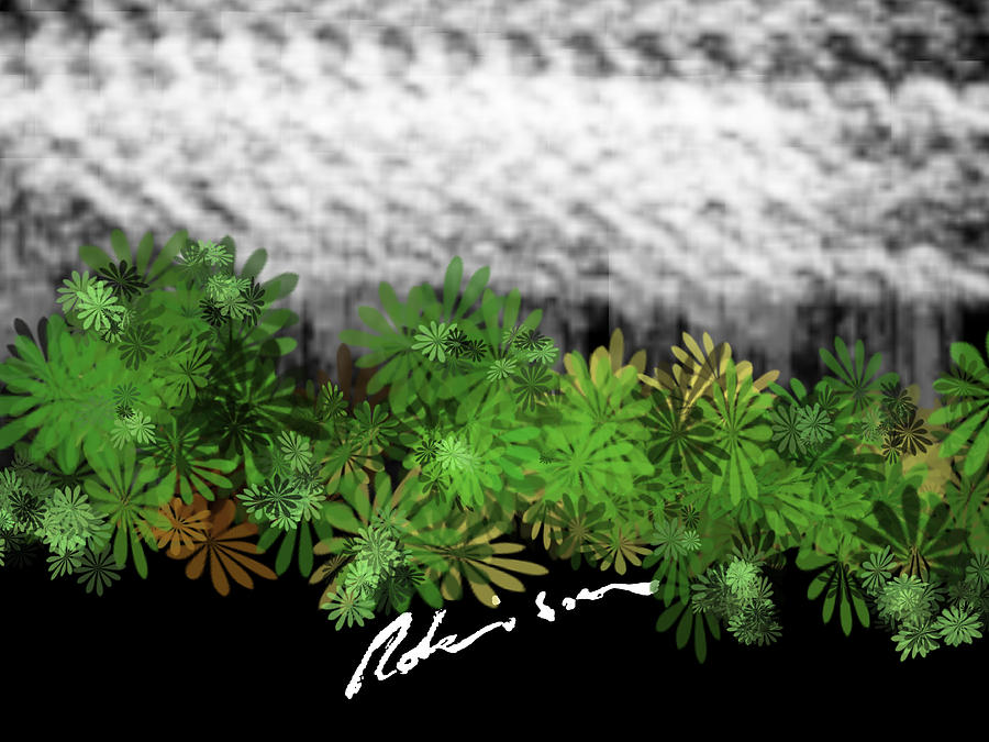 Camo -flower-range Painting by Mark Robinson