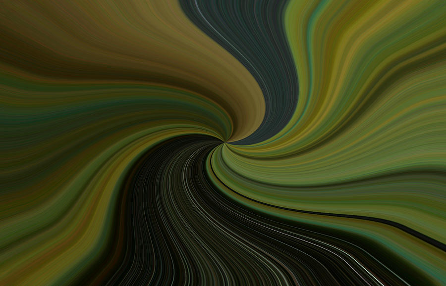 Abstract Digital Art - Camo Twist by Joshua Sunday