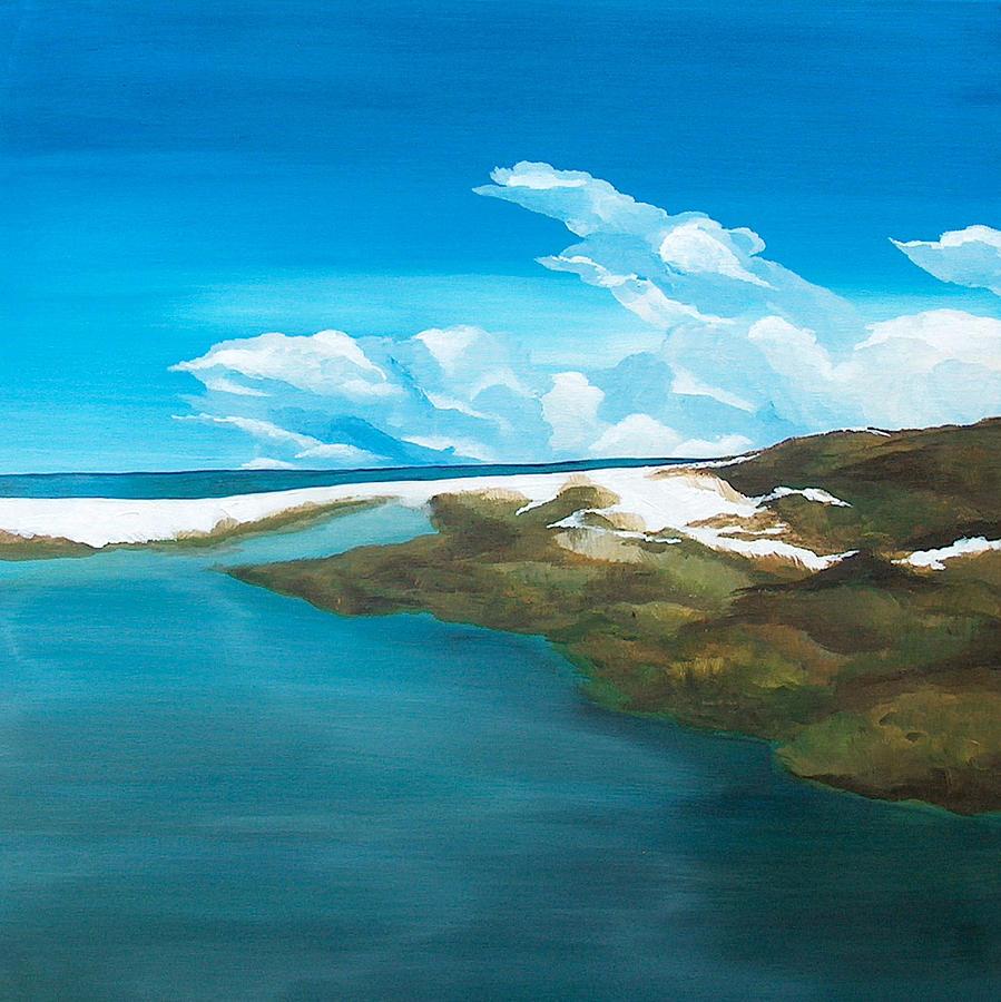 Beach Painting - Camp Creek by Racquel Morgan