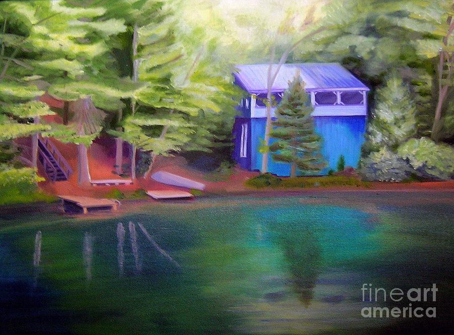 Camp Painting - Camp by Morgan Leshinsky