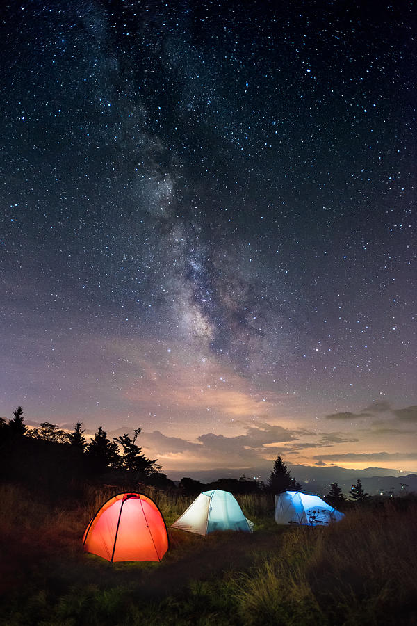 Camp under the Milky Way by Tommy White