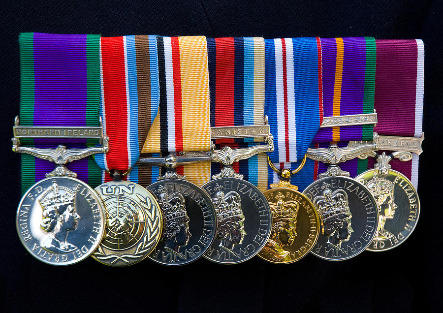 Medals Photograph - Campaign Medals by Peter Jarvis
