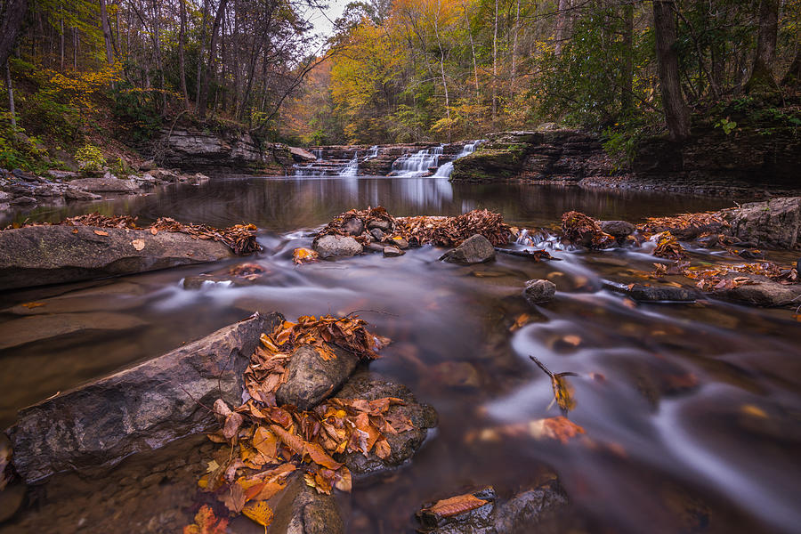 Campbell Falls Camp Creek State Park by Rick Dunnuck