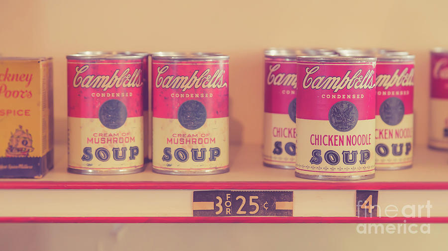 Cambells Photograph - Campbells Condensed Soup Retro by Edward Fielding