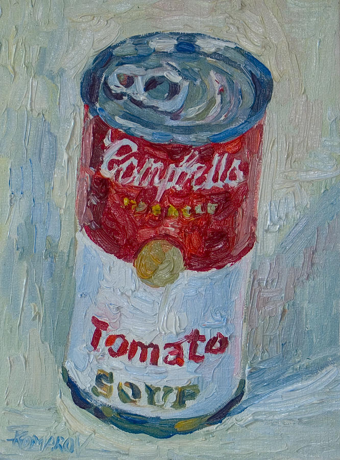 Campbell's Soup Painting - Campbells Soup by Vitali Komarov