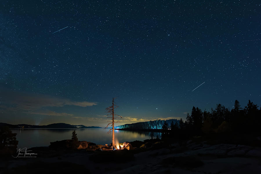 Airplanes Photograph - Campfire 1 by Jim Thompson