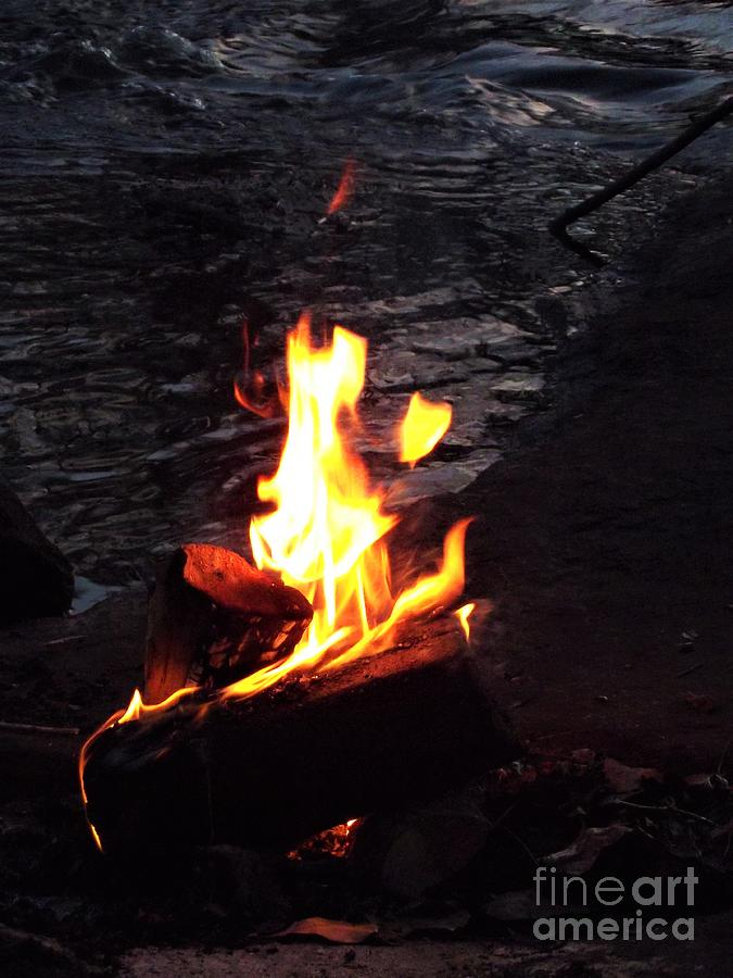 Campfire On The Banks Of The Neuse River Photograph