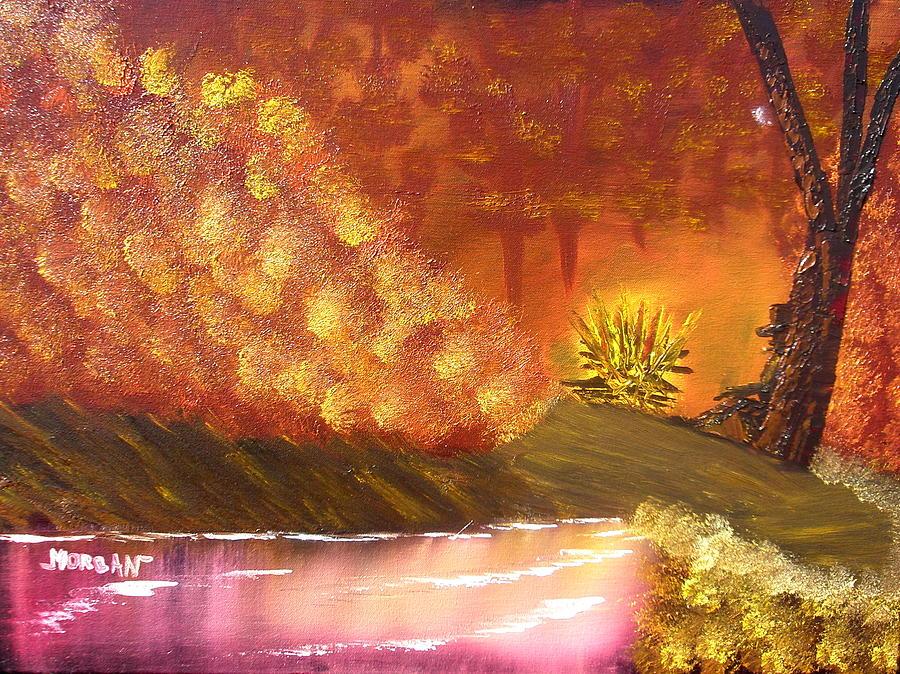 Campfire Painting by Sheldon Morgan