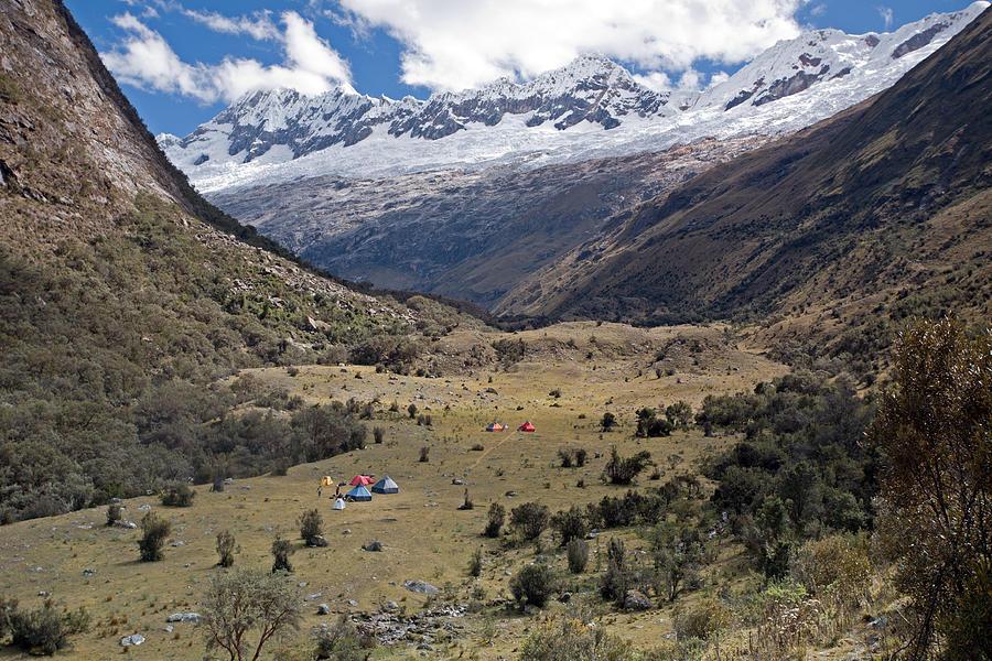 Camping In Huaripampa Valley Photograph