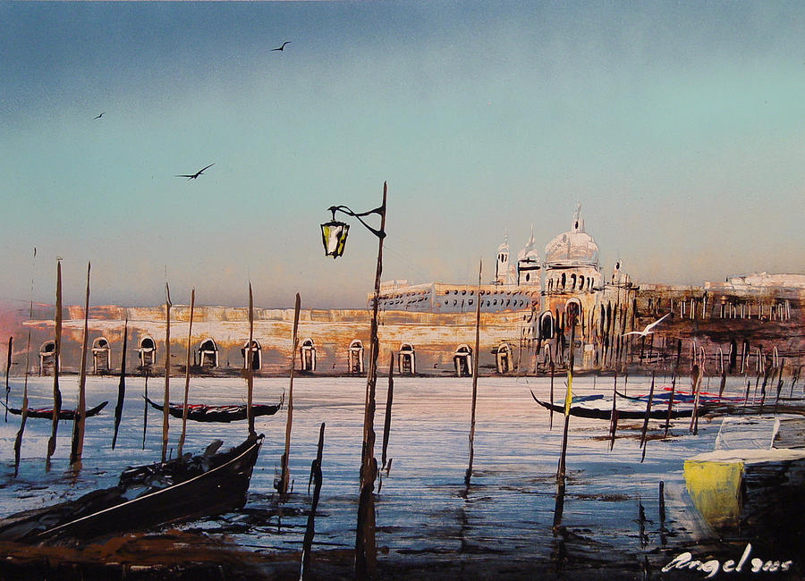 Campo Sallute Venice Painting by Angel Ortiz
