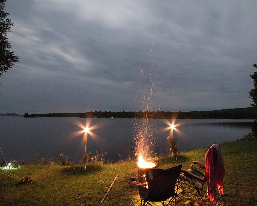 Camping Photograph - Campsite Lakeside by Justin Mountain