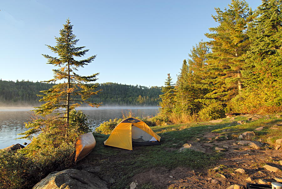 Boundary Waters Canoe Area Wilderness Photograph - Campsite On Alder Lake by Larry Ricker