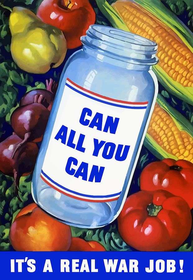 Canned Food Painting - Can All You Can -- Ww2 by War Is Hell Store