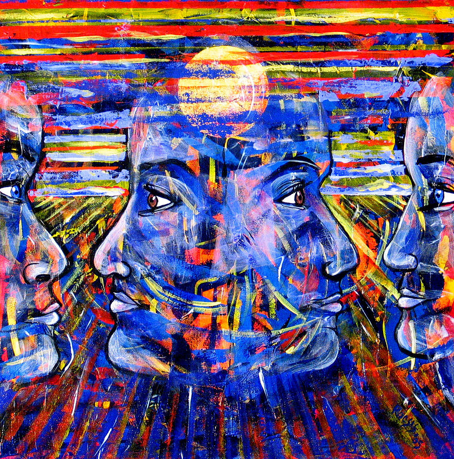 Confrontation Painting - Can Not Live A Lie by Rollin Kocsis