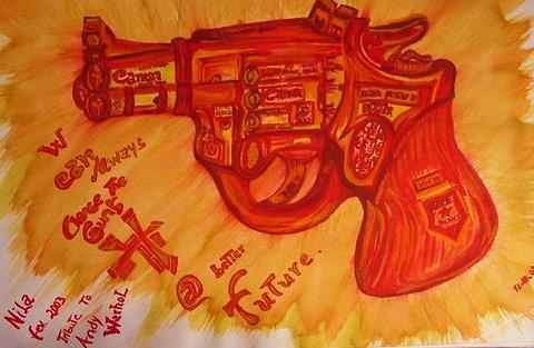 Revolver Painting - Can On by Nila  Poduschco