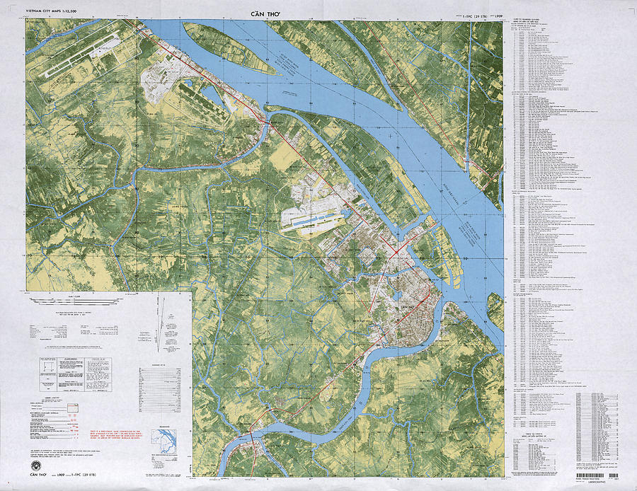 Can Tho South Vietnam 1970 Photograph by Maps of Vietnam