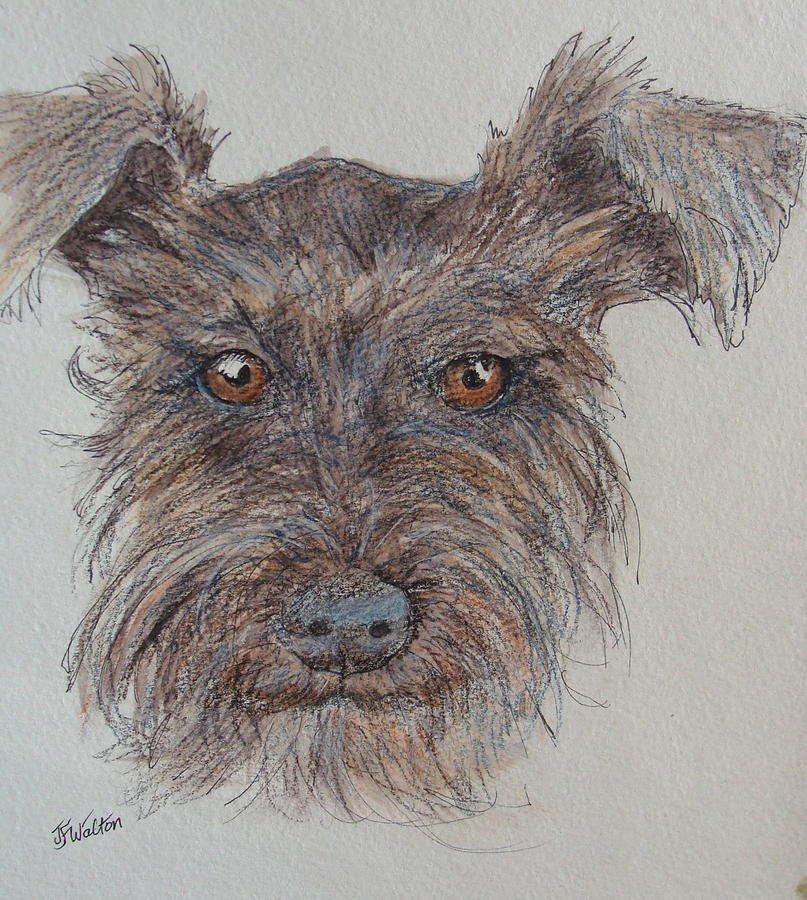 Dog Painting - Can We Go Now by Judy Fischer Walton