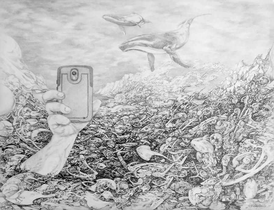Drawing Drawing - Can You Hear Me Now by Jay Garfinkle