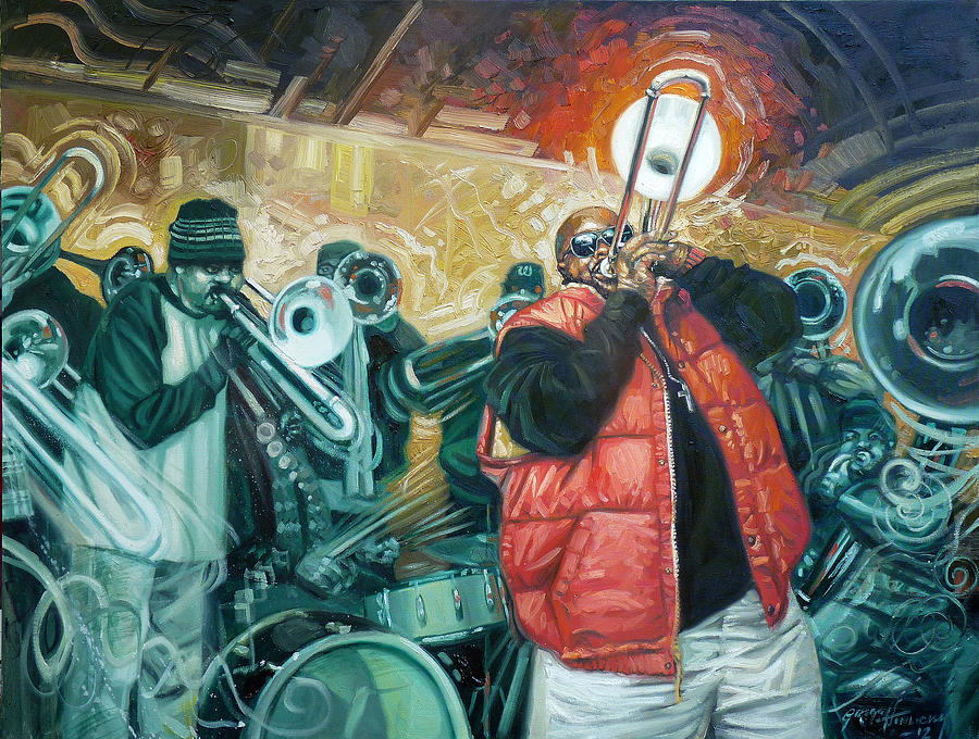 Jazz Painting - Can You Hear Us Lord by Gregg Hinlicky