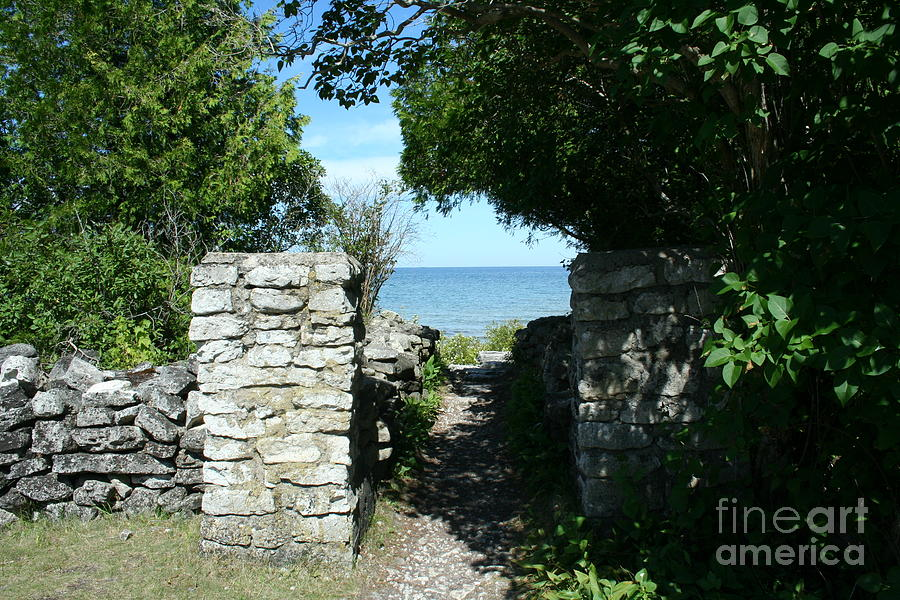 Cana Island Mixed Media - Cana Island Walkway Wi by Tommy Anderson