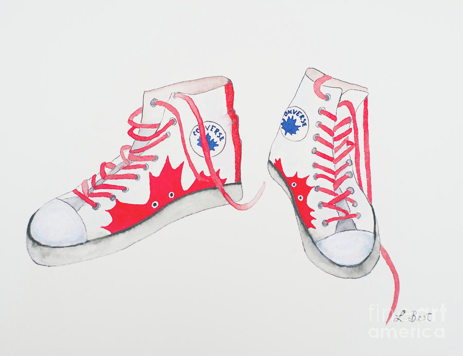 Canada Painting - Canada Converse by Laurel Best