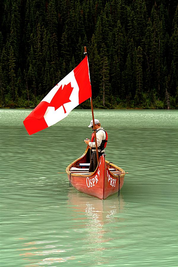 Flags Photograph - Canada Day... by Al Fritz