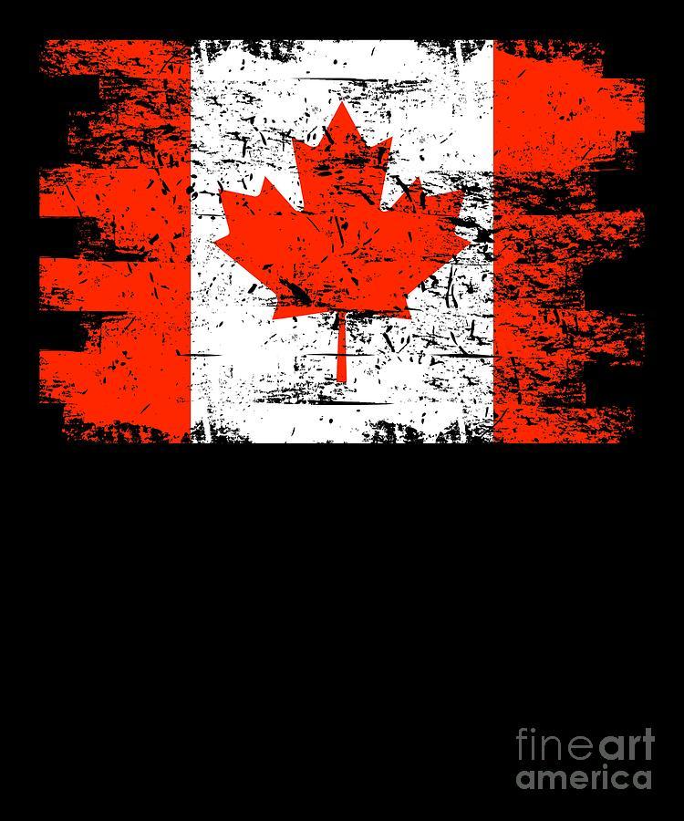 America Digital Art - Canada Flag Gift Country Patriotic Travel Shirt Americas Light by J P