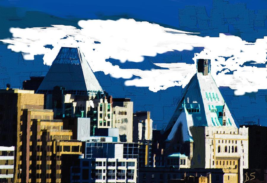 Digital Digital Art - Canada Towers by Dale Stillman