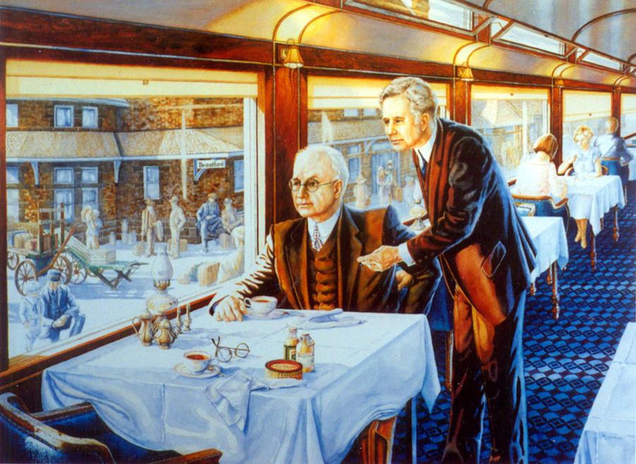 Historical Paintings Painting - Canadian Destiny by Hanne Lore Koehler