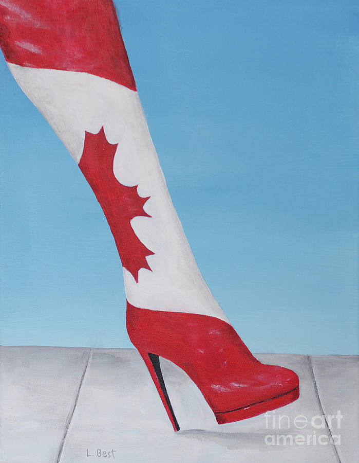 Canada Painting - Canadian Kinky Boot by Laurel Best