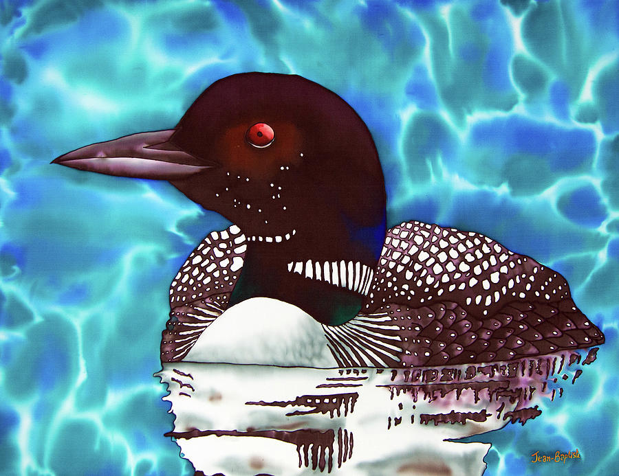 Exotic Bird Painting - Canadian Loon by Daniel Jean-Baptiste