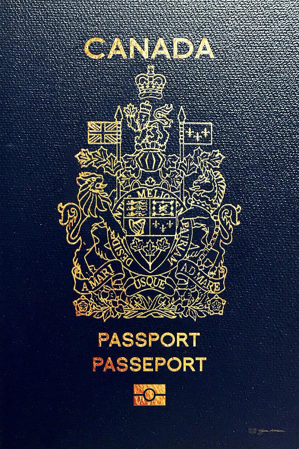 canadian passport cover digital art by serge averbukh. Black Bedroom Furniture Sets. Home Design Ideas