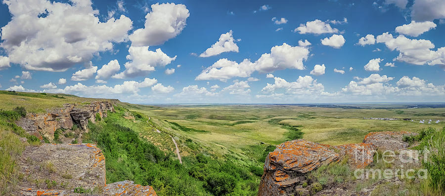 Alberta Photograph - Canadian Prairie At Head-smashed-in Buffalo Jump by JR Photography