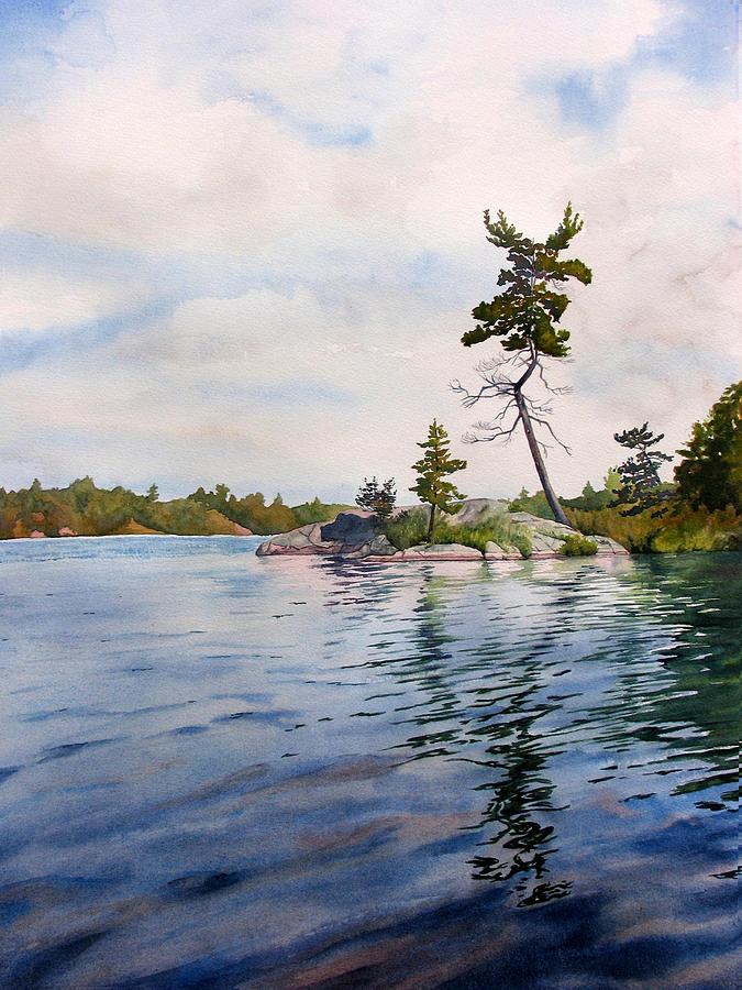 Lake Painting - Canadian Shield Sculpture by Debbie Homewood