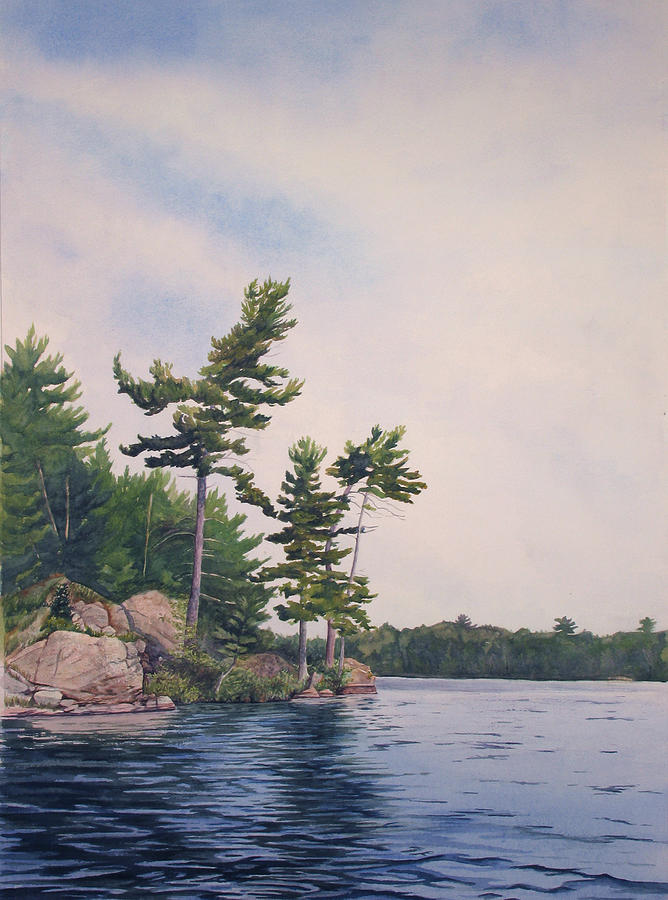 Canadian Shield Painting - Canadian Shield Sculpture No. 2 by Debbie Homewood