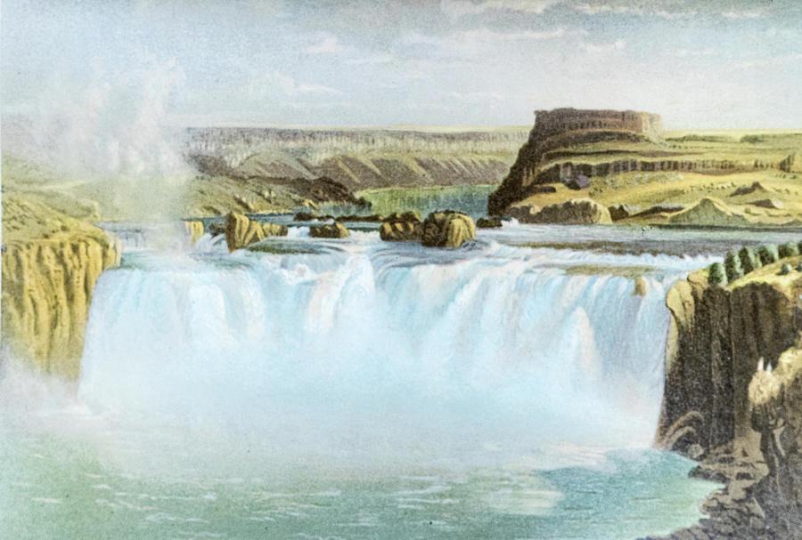 Canadian Photograph - Canadian Water Fall by Douglas Barnett